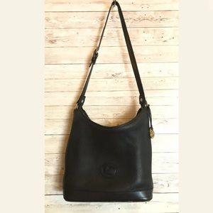 Vtg DOONEY & BOURKE All Weather All Black HOBO
